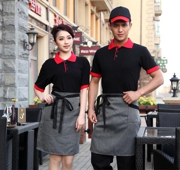 Đặt mua áo thun đồng phục sỉ khác nhau cho từng vị trí công việc tại nhà hàng